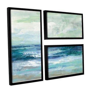 ArtWall Silvia Vassileva's Tide, 3 Piece Floater Framed Canvas Flag Set