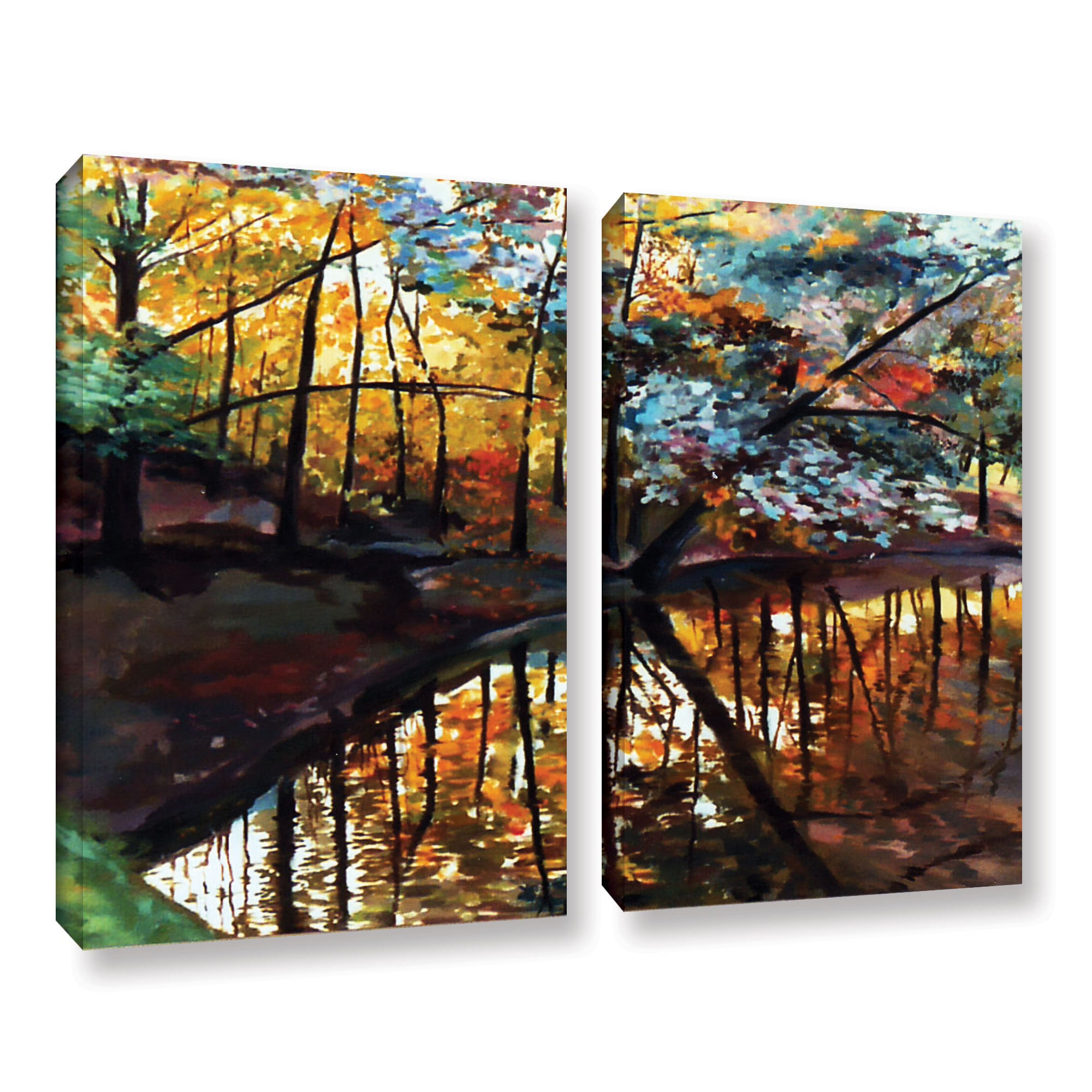 Details about ArtWall Sylvia Shirilla's Elysium, 2 Piece Gallery Wrapped  Canvas Set