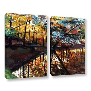ArtWall Sylvia Shirilla's Elysium, 2 Piece Gallery Wrapped Canvas Set