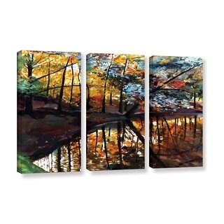 ArtWall Sylvia Shirilla's Elysium, 3 Piece Gallery Wrapped Canvas Set