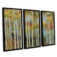 ArtWall Silvia Vassileva's Young Forest, 3 Piece Floater Framed Canvas Set