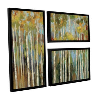 ArtWall Silvia Vassileva's Young Forest, 3 Piece Floater Framed Canvas Flag Set
