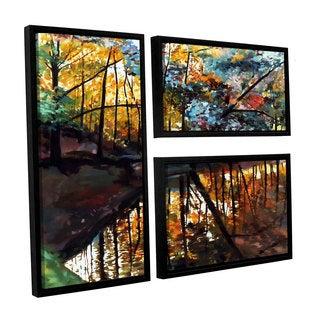 ArtWall Sylvia Shirilla's Elysium, 3 Piece Floater Framed Canvas Flag Set