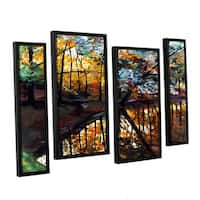 ArtWall Sylvia Shirilla's Elysium, 4 Piece Floater Framed Canvas Staggered Set - Multi