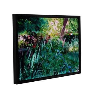 ArtWall Sylvia Shirilla's Foxgloves At Mill Creek, Gallery Wrapped Floater-framed Canvas