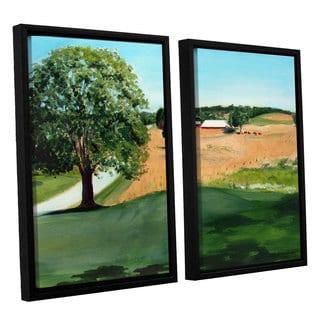 ArtWall Sylvia Shirilla's Western Pennsylvania Farm, 2 Piece Floater Framed Canvas Set