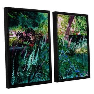 ArtWall Sylvia Shirilla's Foxgloves At Mill Creek, 2 Piece Floater Framed Canvas Set