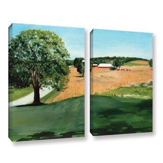 ArtWall Sylvia Shirilla's Western Pennsylvania Farm, 2 Piece Gallery Wrapped Canvas Set