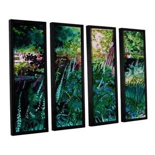 ArtWall Sylvia Shirilla's Foxgloves At Mill Creek, 4 Piece Floater Framed Canvas Set