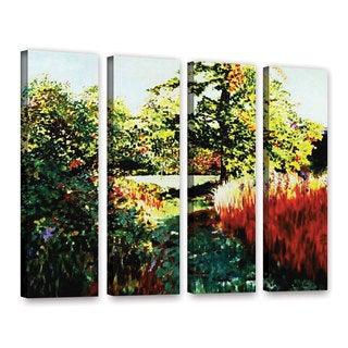 ArtWall Sylvia Shirilla's Impression Path, 4 Piece Gallery Wrapped Canvas Set
