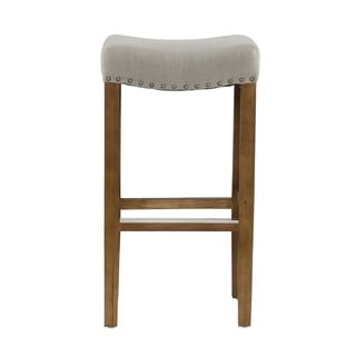 Kosas Home Kai Backless Barstool French Beige