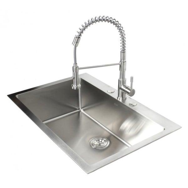 Top-mount Drop-in Stainless Steel Single Kitchen Sink - Free ...