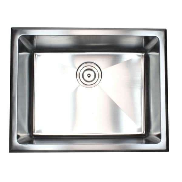 Shop Top Mount Drop In Stainless Steel Single Bowl Kitchen