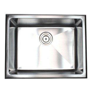 Top-mount Drop-in Stainless Steel Single Bowl Kitchen Sink