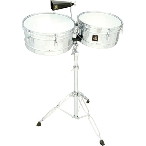 LP Latin Percussion LPA256 Aspire Series 13-inch and 14-inch Timbale Set with Cowbell