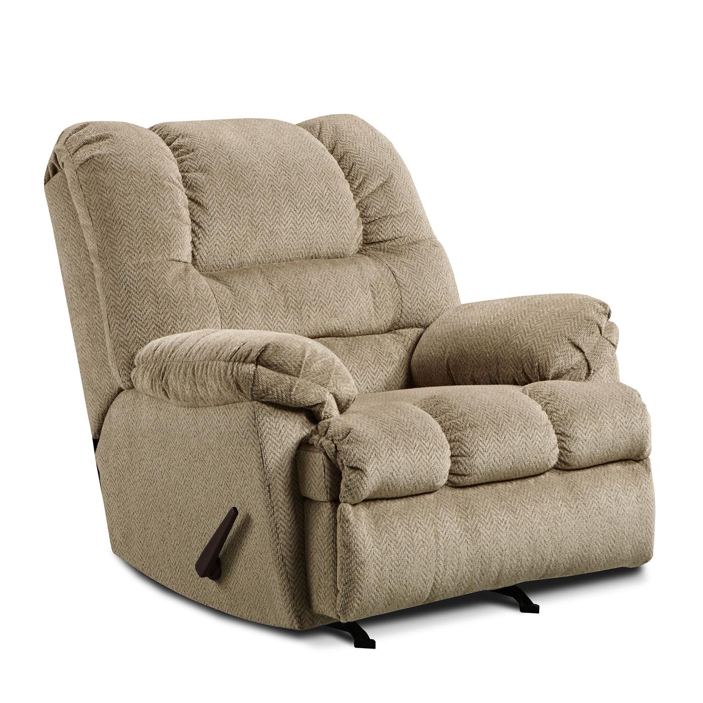 Simmons Upholstery Zig Zag Rocker Recliner (Tan), Size Ov...