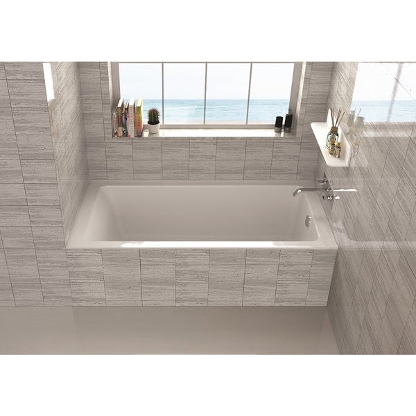 Fine Fixtures Alcove Bathtub With Right Side Fixed Tile