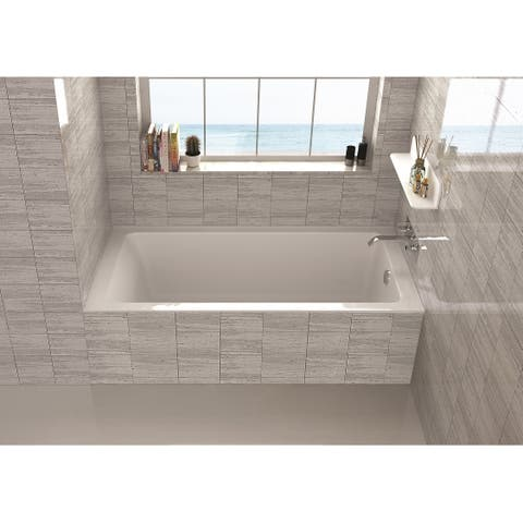"Fine Fixtures Alcove Bathtub With Right Side Fixed Tile Flange (32"" x 66"")"