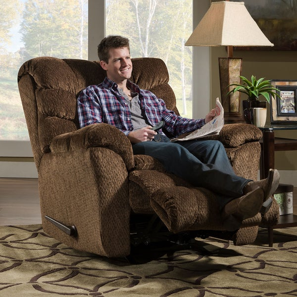 simmons recliner. simmons upholstery aegean heat \u0026 massage rocker recliner - free shipping today overstock.com 18103409