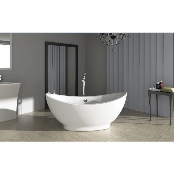 Fine fixtures modern freestanding bathtub free shipping for Free standing bathtubs for sale