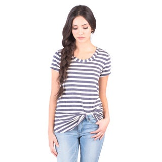 DownEast Basics Women's Striped Anytime Tee