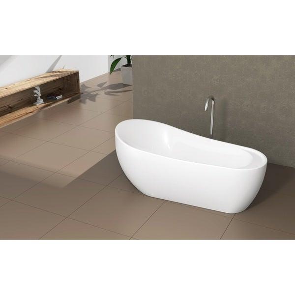 Shop Fine Fixtures Modern Freestanding Oval Tub Free