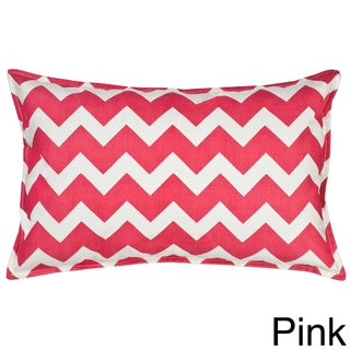 Chevron Cotton Canvas 22-inch Pillow