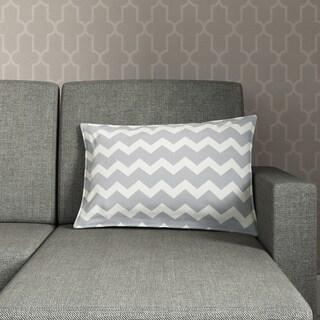 Chevron Cotton Canvas 22-inch Pillow (Option: Pink)