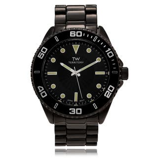 Territory Men's Round Casual Dial Link Bracelet Watch|https://ak1.ostkcdn.com/images/products/11098087/P18103548.jpg?impolicy=medium