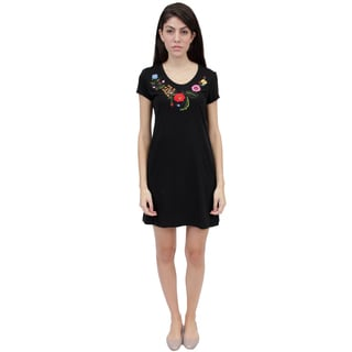 La Cera Women's Embroidered Knit Dress