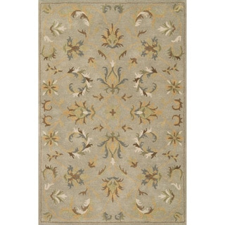 Hand-tufted Wilson Floral Mist Wool Rug (9' x 12')
