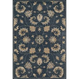 Hand-tufted Wilson Indigo Wool Rug (9' x 12')