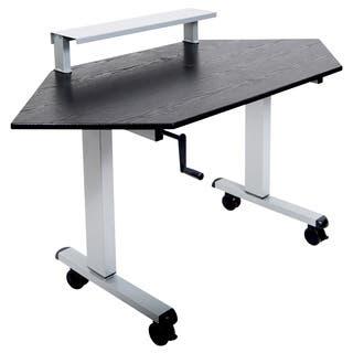 Luxor STANDUP-CCF60-B 60-inch Standing Corner Desk|https://ak1.ostkcdn.com/images/products/11098196/P18103642.jpg?impolicy=medium
