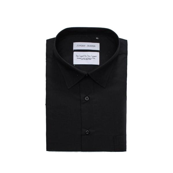 e9cd245d9d7ad6 Shop Jordan Jasper Men s Solid Black Shirt - Free Shipping On Orders ...