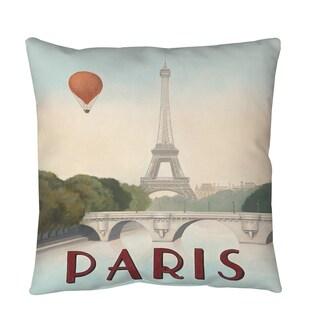 Thumbprintz City Skyline Paris Floor Pillow