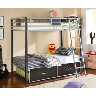 Furniture of America Pierce Metal Twin Over Twin Bunk Bed
