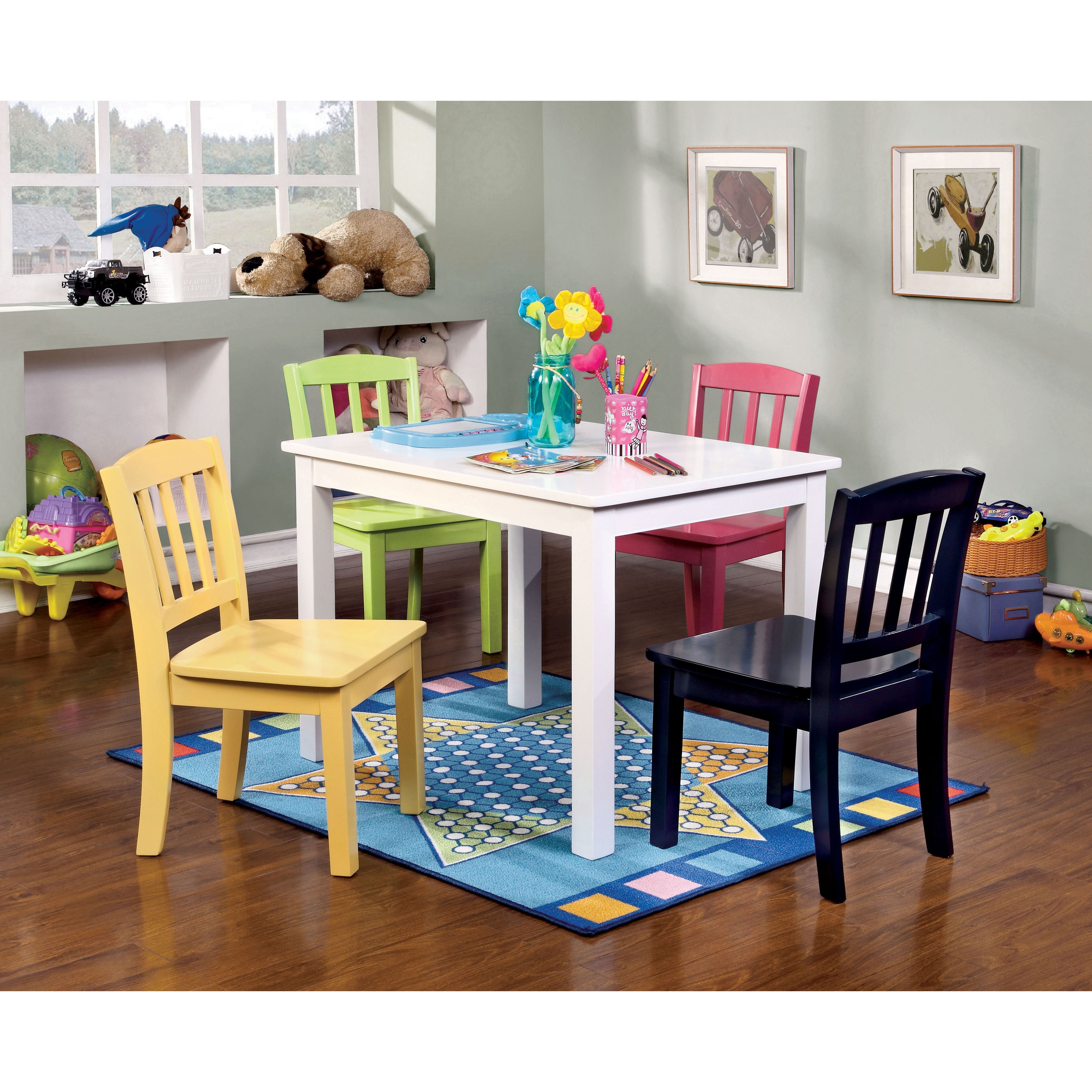 Furniture of America Sallie Youth 5-piece Table and Chair...