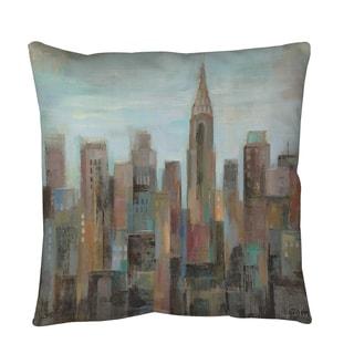 Thumbprintz Cityscape at Dawn Floor Pillow
