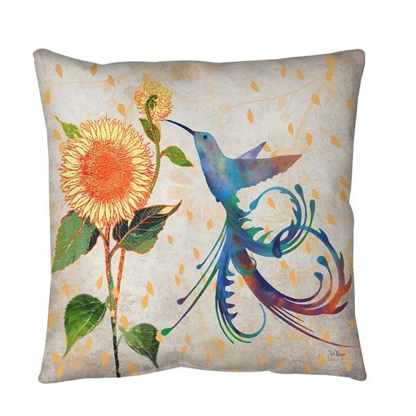 Daisy Hum Neutral Floor Pillow