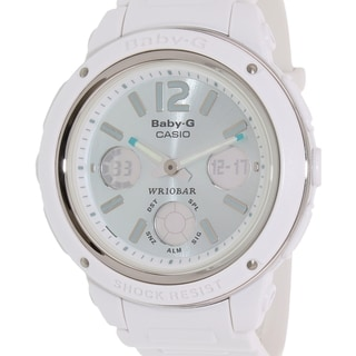 Casio Women's Baby-G BGA150-7B2 White Resin Quartz Watch