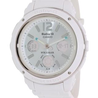 Casio Women's Baby-G BGA150-7B2 White Resin Quartz Watch