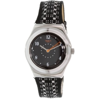 Swatch Women's Irony YLS184 Black Leather Quartz Watch