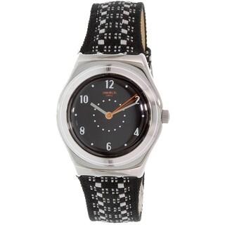 Swatch Women's Irony YLS184 Black Leather Quartz Watch