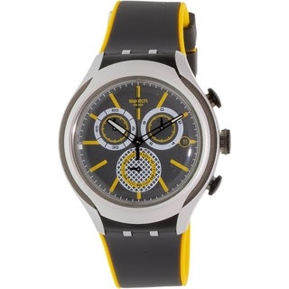 Swatch Men's Irony YYS4008 Grey Silicone Quartz Watch
