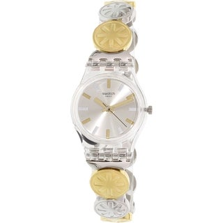 Swatch Women's Originals LK348G Silver Stainless-Steel Quartz Watch