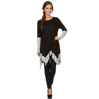 MOA Collection Women's Color Block Top|https://ak1.ostkcdn.com/images/products/11098308/P18103664.jpg?impolicy=medium