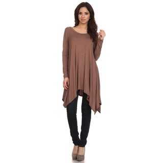 MOA Collection Women's Solid Knit Dress