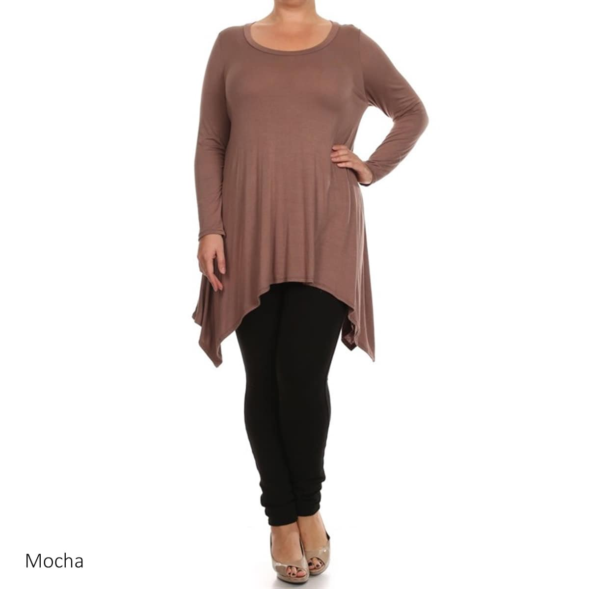 MOA-Collection-Plus-Size-Women-039-s-Solid-Knit-Dress thumbnail 47