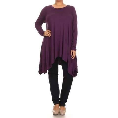 MOA Collection Plus Size Women's Solid Knit Dress