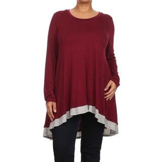 MOA Collection Plus Size Women's Color Block Tunic